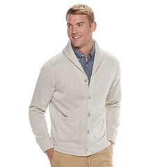 Men's SONOMA Goods for Life™ Supersoft Modern-Fit Sweater Fleece Shawl-Collar Cardigan