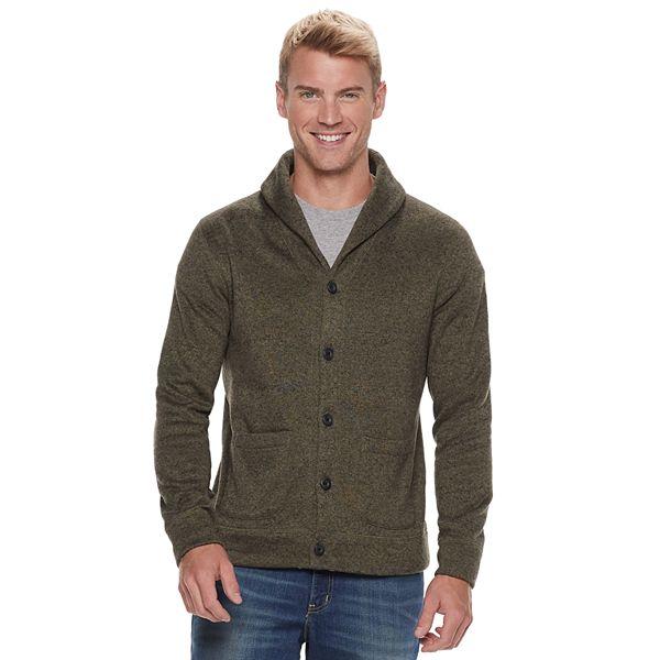 Men's Sonoma Goods For Life® Supersoft Sweater Fleece Shawl Collar Cardigan