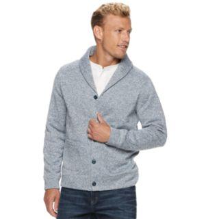 Men's SONOMA Goods for Life? Supersoft Sweater Fleece Shawl-Collar Cardigan
