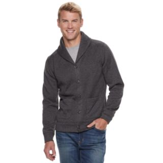 Men's SONOMA Goods for Life? Supersoft Modern-Fit Sweater Fleece Shawl-Collar Cardigan