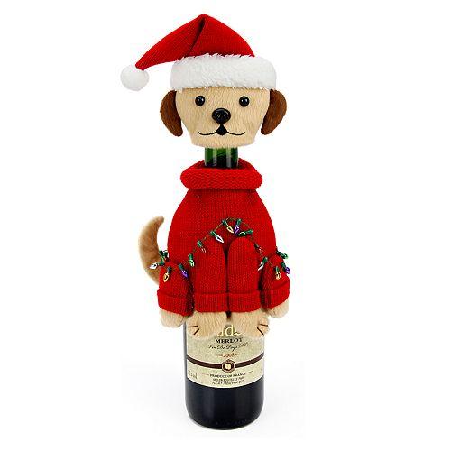 St. Nicholas Square® Santa Paws Dog Wine Cover