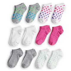 Girls 4-16 Hanes 12-pack No-Show Socks