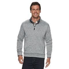 Men's SONOMA Goods for Life™ Modern-Fit Sweater Fleece Quarter-Zip Pullover