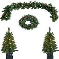 Kohls Christmas Trees.St Nicholas Square Pre Lit Artificial Christmas Tree 10