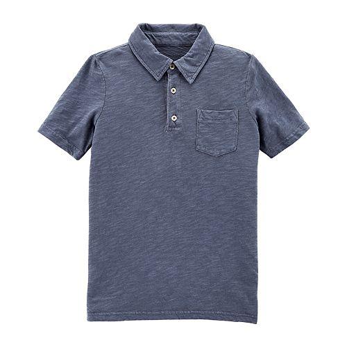 Boys 4-12 Carter's Dyed Pocket Polo