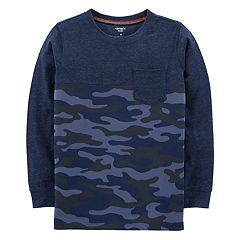 Boys 4-12 Carter's Camouflaged Long Sleeve Pocket Tee