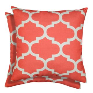 Spencer Home Decor Fretwork Lattice Print 2-pack Throw Pillow Set