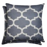 Spencer Home Decor Fretwork Lattice Print 2-pack Throw Pillow Set