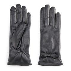 Women's Apt. 9® Leather Tech Gloves