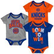 Baby New York Knicks Little Fan 3-Piece Bodysuit Set