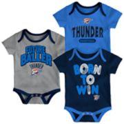 Baby Oklahoma City Thunder Little Fan 3-Piece Bodysuit Set