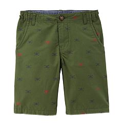Boys 4-12 Carter's Flat Front Printed Shorts