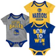 Baby Golden State Warriors Little Fan 3-Piece Bodysuit Set
