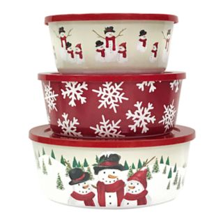 St. Nicholas Square® 3-piece Yuletide Stacking Container Set