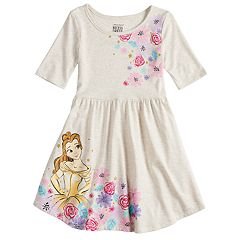 Disney's Beauty & The Beast Girls 4-10 Print Skater Dress by Jumping Beans®