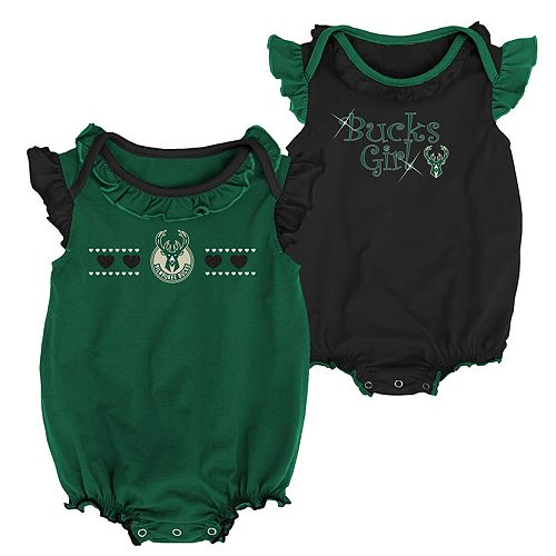 Baby Girl Milwaukee Bucks Homecoming Bodysuit Set