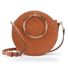 LC Lauren Conrad Aster O-Ring Circle Crossbody Bag