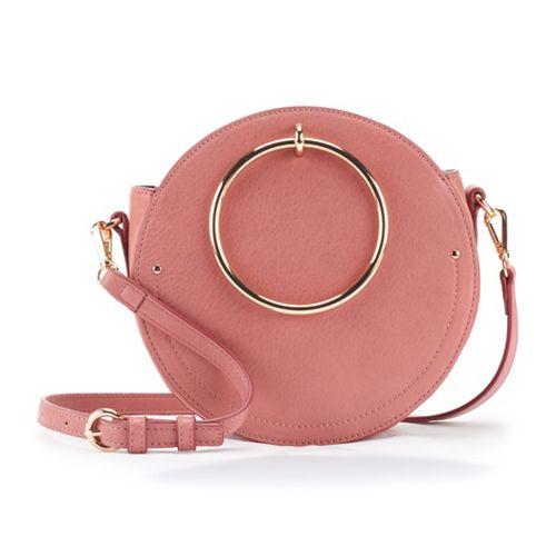 LC Lauren Conrad Aster O-Ring Circle Crossbody Bag
