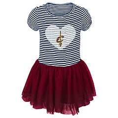 Toddler Girl Cleveland Cavaliers Sequin Tutu Dress