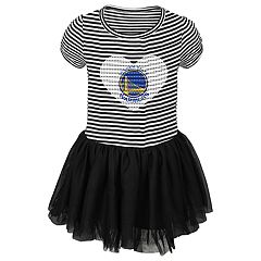 Toddler Girl Golden State Warriors Sequin Tutu Dress