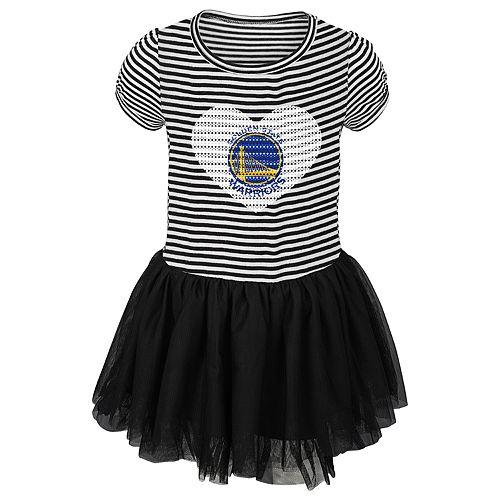 Toddler Girl Golden State Warriors Sequin Tutu Dress