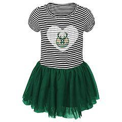 Toddler Girl Milwaukee Bucks Sequin Tutu Dress