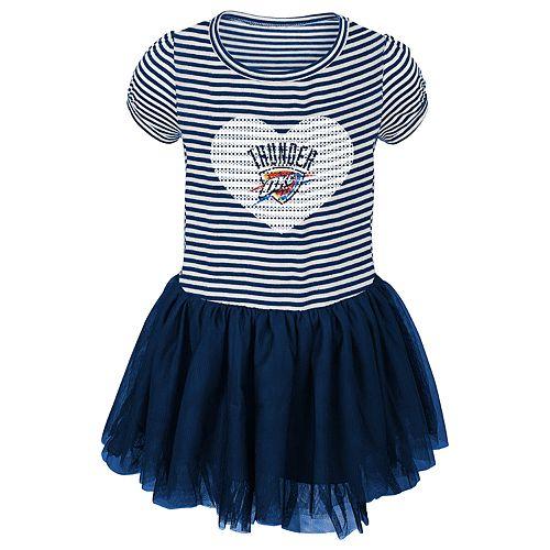 Toddler Girl Oklahoma City Thunder Sequin Tutu Dress