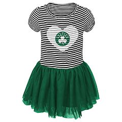 Toddler Girl Boston Celtics Sequin Tutu Dress