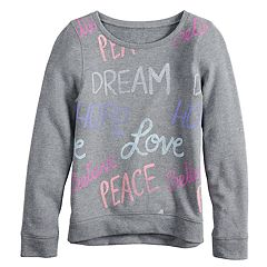 Girls 7-16 & Plus Size SO® Easy Crew Pullover Sweatshirt
