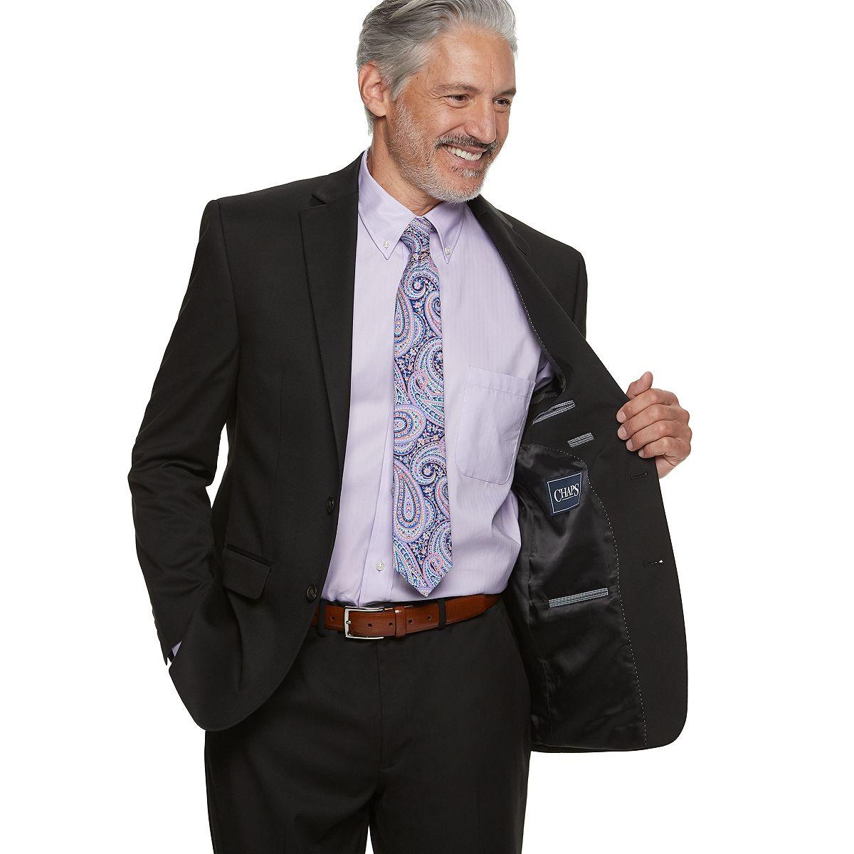 Men's Chaps Classic-Fit Stretch Suit Charcoal vMq3C