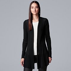 Women's Simply Vera Vera Wang Waffle-Stitch Open Front Cardigan