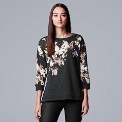Women's Simply Vera Vera Wang Floral Crewneck Sweatshirt