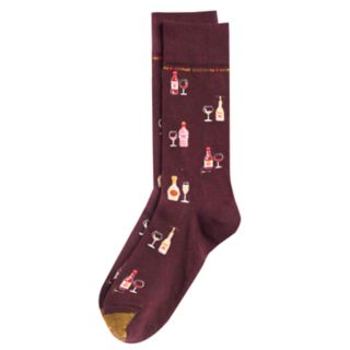 Men's GOLDTOE Wine Novelty Socks