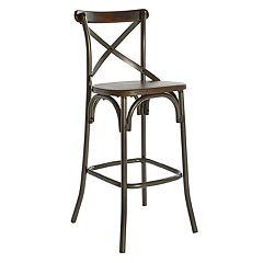 OSP Designs Indio Industrial Chic Bar Stool