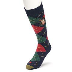 Men's GOLDTOE Deer Argyle Novelty Socks
