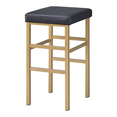 OSP Designs Gold Finish Backless Bar Stool