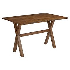 OSP Designs McKayla Farmhouse Brown Flip-Top Dining Table