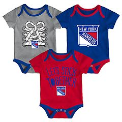 Baby New York Rangers 3-Piece Bodysuit Set