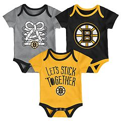 Baby Boston Bruins 3-Piece Bodysuit Set