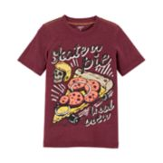 "Boys 4-12 Carter's ""Skate or Pie Local Crew"" Skull & Pizza Graphic Tee"