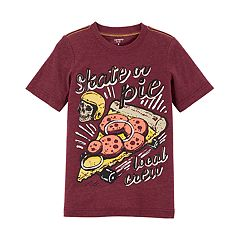 Boys 4-12 Carter's 'Skate or Pie Local Crew' Skull & Pizza Graphic Tee