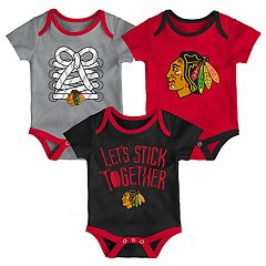 Baby Chicago Blackhawks 3-Piece Bodysuit Set