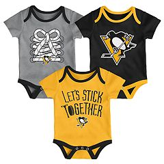 Baby Pittsburgh Penguins 3-Piece Bodysuit Set