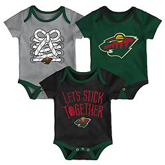 Baby Minnesota Wild 3-Piece Bodysuit Set