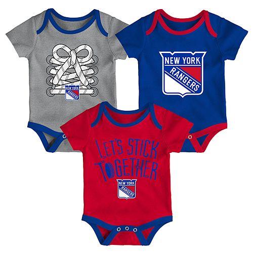 Baby New York Rangers 3-Piece Bodysuit Set
