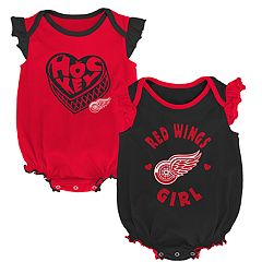 Baby Girl Detroit Red Wings Bodysuit Set