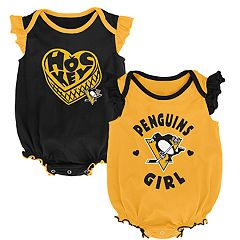 Baby Girl Pittsburgh Penguins Bodysuit Set
