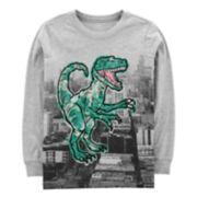 Boys 4-12 Carter's Dinosaur T-Rex Long Sleeve Graphic Tee