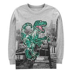 Boys 4-12 Carter's Dinosaur T-Rex Long Sleeve Graphic Tee