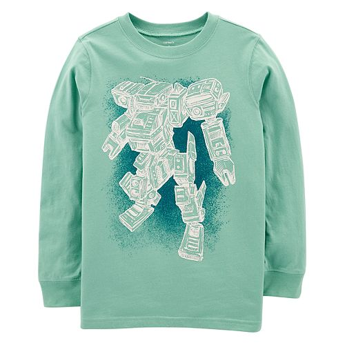 8ffcd1d9 Boys 4-12 Carter's Robot Long Sleeves Graphic Tee